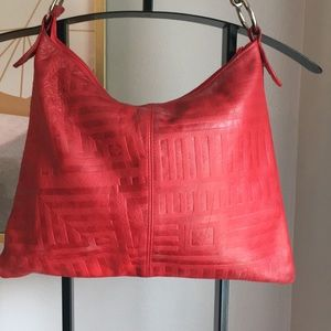 Bags - Red Leather Shoulder Purse